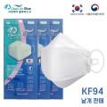 Clean Air Blue 韓國KF94防疫成人口罩1包共1個 (白色) 由於售價太低 為節省運費會拆盒寄出