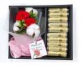 母親節送禮- 康乃馨送禮套裝 (包括香皂花+假花)